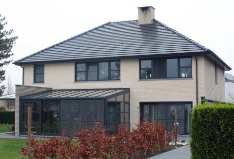 Nieuwbouw in alumium antracietgrijs (RAL 7016)
